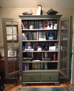 Bookcase with Books and other objects