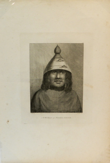 A Woman of Nootka Sound; [From Atlas Plate 39, The Voyage of the Resolution and Discovery 1776-1780, London: Nicol & Cadell, 1784] [Engraved by William Sharp]. John Webber.