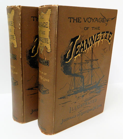 The Voyage of the Jeannette.; The Ship and Ice Journals of George W. De Long, Lieutenant-Commander U.S.N., and Commander of the Polar Expedition of 1879-1881 [In Two Volumes, Illustrated] [from the Steve Fossett collection]. George W. De Long, Ed. Emma De Long.