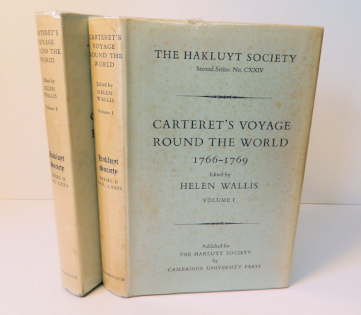 Carteret's Voyage Round the World 1766-1769; [Hakluyt Society Second Series II No. CXXIV (124) and CXXV (125)] [From the Steve Fossett Collection]. Helen Wallis.