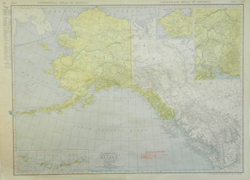 Rand McNally & Co.'s Commercial Atlas of America; New Commercial Atlas Map of Alaska [Hawaiian Islands on verso]. Rand McNally, Co.'s.