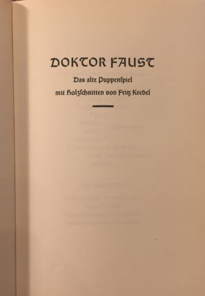 Doktor Faust; Das Alte Puppenspiel [The Old Puppet Show]