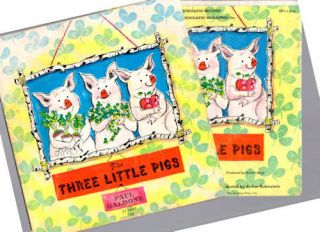 The Three Little Pigs; [with 33 1/2 rpm record of narration by George Rose and Conducted by Arthur Rubinstein]. Paul Galdone.