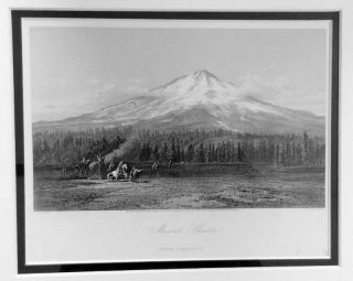 Mount Shasta [Northern California]; [steel engraving from Picturesque America, Edward Paxman Brandard, engraver]. James David Smillie.