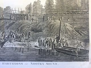 A View of the Habitations in Nootka Sound. John Webber