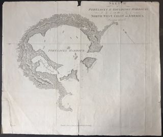 Sketch of Portlocks & Gouldings Harbour's on the North West Coast of America; Variation 25...
