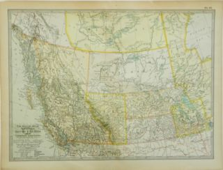 The Century Atlas | Manitoba, British Columbia and the Northwest Territories; No. 63