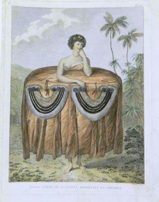 Illustrations from James Cook's Second (1772-1775) and Third (1776-1780) Voyages; A Group of Four illustrations of the South Pacific Island people from the French editions